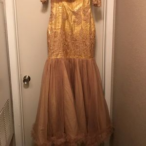 Custom made gold dress ... Can fit a size 8 and 10